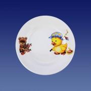 """Тарелка мелкая 175 мм """"Утенок,медвежонок"""""""