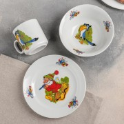 "Набор посуды ""Лесовичок"" кружка 200мл, тарелка мелкая 170мм, миска 360мл"
