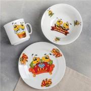 "Набор посуды ""Пчелы"" кружка 200мл, тарелка мелкая 170мм, миска 360мл"