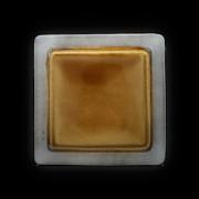 Тарелка мелкая 260*260мм серый+светло коричневый Corone Tesoro фк 0413