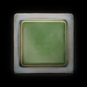 Тарелка мелкая 260*260мм серый+зеленый Corone Tesoro фк 0414