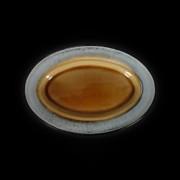 Блюдо овальное 272*186мм серый+светло коричневый Corone Tesoro фк 0419