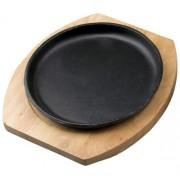 сковорода чугунная на подставке 18см круглая