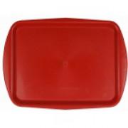 поднос пластиковый 470*360мм красный